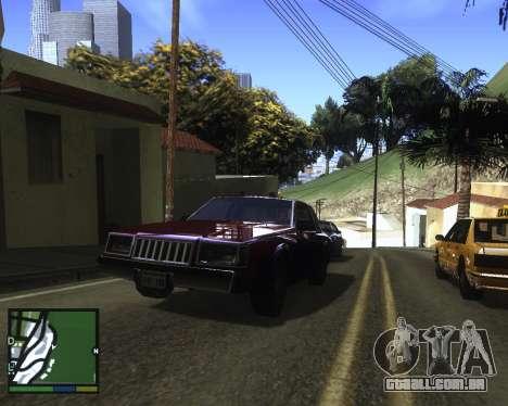 ENB for low PC para GTA San Andreas quinto tela
