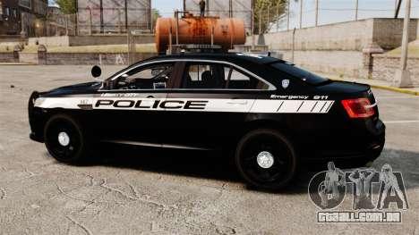 Ford Taurus Police Interceptor 2013 LCPD [ELS] para GTA 4 esquerda vista