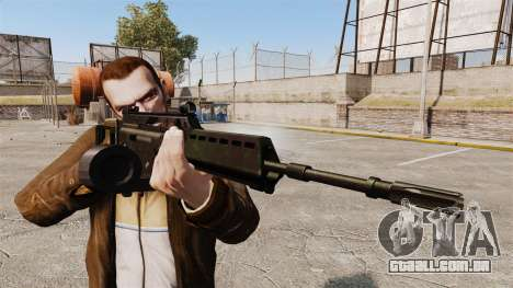 Fuzil de assalto MG36 H & K v2 para GTA 4 terceira tela