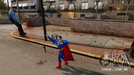 Script para o Super-homem para GTA 4 quinto tela