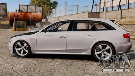 Audi RS4 Avant 2013 Sport v2.0 para GTA 4 esquerda vista