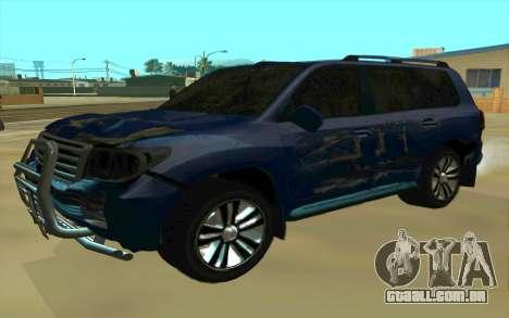 Toyota Land Cruiser 200 para GTA San Andreas vista inferior
