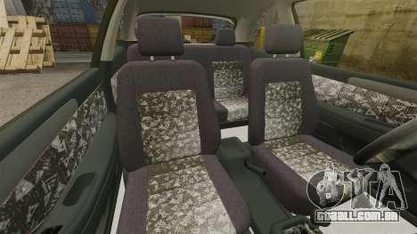 Daewoo Lanos FL 2001 para GTA 4 vista interior