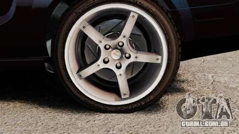 Ford Mustang Shelby GT500KR 2008 para GTA 4 vista de volta
