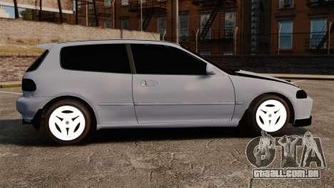 Honda Civic Gtaciyiz para GTA 4 esquerda vista