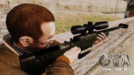 Accuracy International AW50F para GTA 4 segundo screenshot