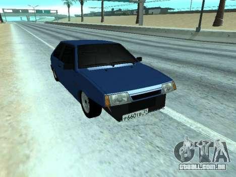 Azul de uma dúzia de VAZ 2108 para GTA San Andreas