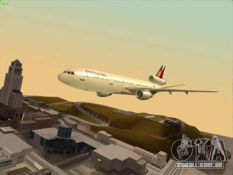 McDonell Douglas DC-10 Philippines Airlines para vista lateral GTA San Andreas