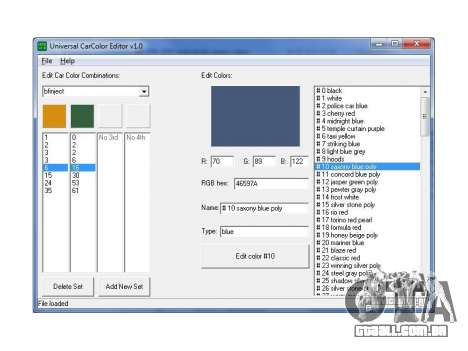 Máquinas de cores editor universal para GTA San Andreas