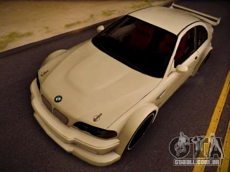 BMW M3 E46 Tuning para GTA San Andreas vista direita