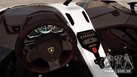 Lamborghini Aventador J 2012 Tricolore para GTA 4 traseira esquerda vista