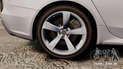Audi RS4 Avant 2013 Sport v2.0 para GTA 4 vista de volta