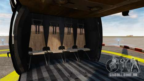 Sikorsky MH-60L Black Hawk para GTA 4 vista lateral