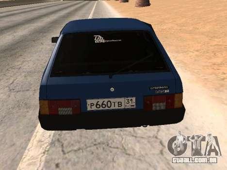 Azul de uma dúzia de VAZ 2108 para GTA San Andreas esquerda vista