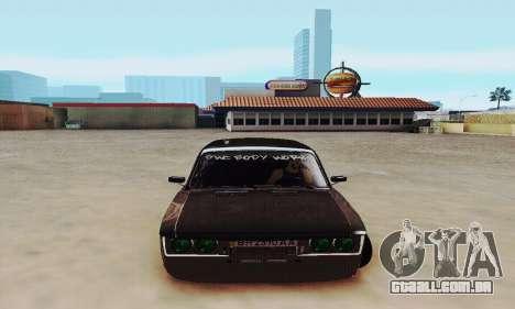 VAZ 2106 Zielonka para GTA San Andreas vista traseira
