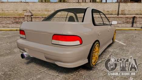 Subaru Impreza WRX STI 1999 [Final] para GTA 4 traseira esquerda vista