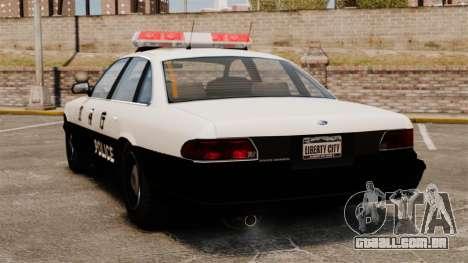 Polícia japonesa para GTA 4 traseira esquerda vista