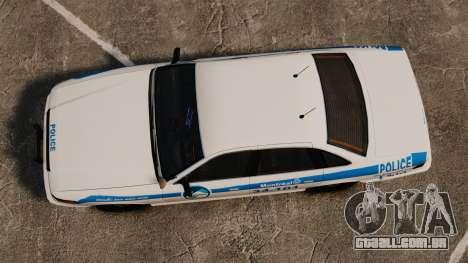 Montreal Polícia v1 para GTA 4 vista direita