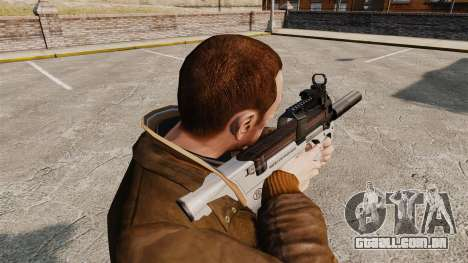 V3 de pistola-metralhadora belga FN P90 para GTA 4 segundo screenshot