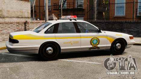 Polícia Quebec para GTA 4 esquerda vista