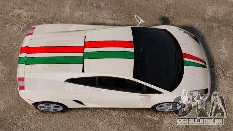 Lamborghini Gallardo 2005 [EPM] Italian para GTA 4 vista direita