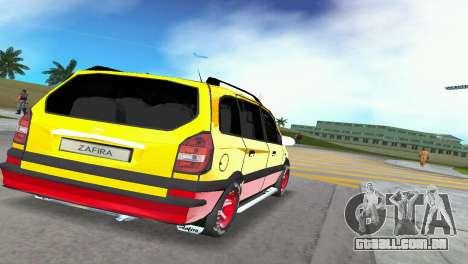 Opel Zafira para GTA Vice City vista traseira esquerda