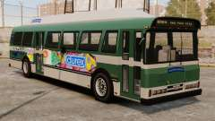 O novo anúncio no ônibus