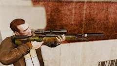 Rifle de sniper L115A1 AW com um v8 de silenciador para GTA 4