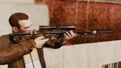 Rifle de sniper L115A1 AW com um silenciador v10