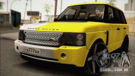 Land Rover Range Rover Gold Vossen para GTA San Andreas