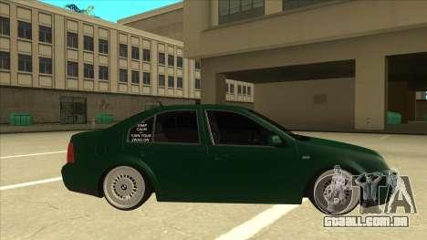 VW Bora para GTA San Andreas traseira esquerda vista