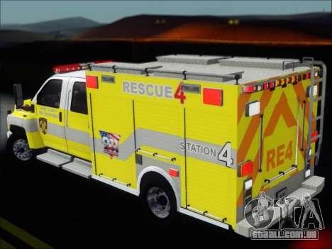 GMC C4500 Topkick BCFD Rescue 4 para o motor de GTA San Andreas