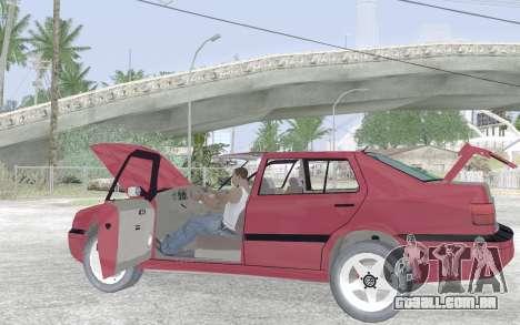 Volkswagen Vento para GTA San Andreas vista inferior