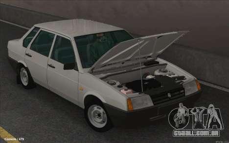 VAZ 21099 para GTA San Andreas esquerda vista
