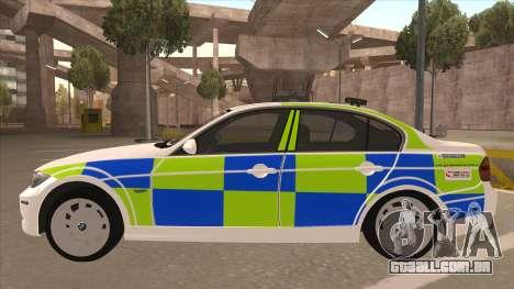 European Emergency BMW 330 para GTA San Andreas traseira esquerda vista
