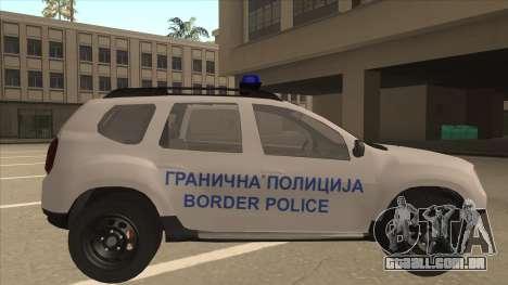 Dacia Duster Granična Policija foi para GTA San Andreas traseira esquerda vista