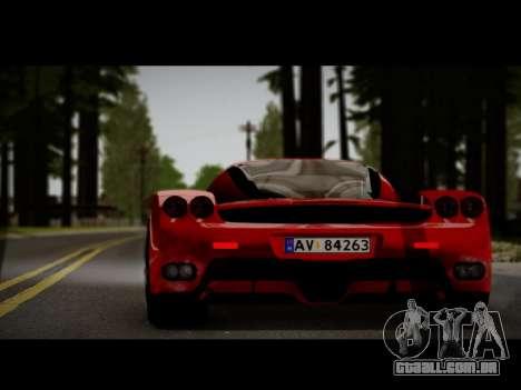Ferrari Enzo para GTA San Andreas traseira esquerda vista
