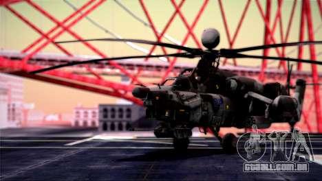 Mi-28N Havoc para GTA San Andreas traseira esquerda vista