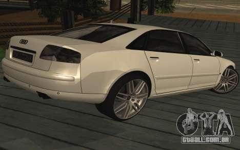 Audi A8L D3 para GTA San Andreas esquerda vista