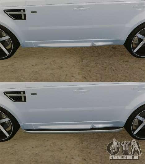 Range Rover Sport Autobiography 2013 Vossen para GTA 4 vista inferior