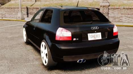 Audi S3 2001 para GTA 4 traseira esquerda vista