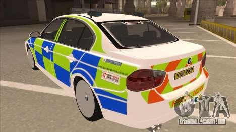 European Emergency BMW 330 para GTA San Andreas vista traseira