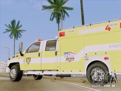 GMC C4500 Topkick BCFD Rescue 4 para GTA San Andreas vista superior