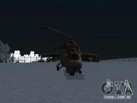 O MI-24 p para GTA San Andreas vista direita
