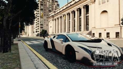 Lamborghini Veneno para GTA 4 traseira esquerda vista