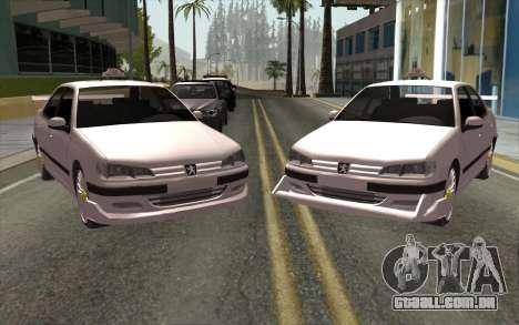 Peugeot 406 Taxi v2 para GTA San Andreas esquerda vista