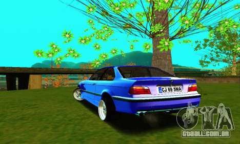 BMW E36 Low and Slow para GTA San Andreas traseira esquerda vista