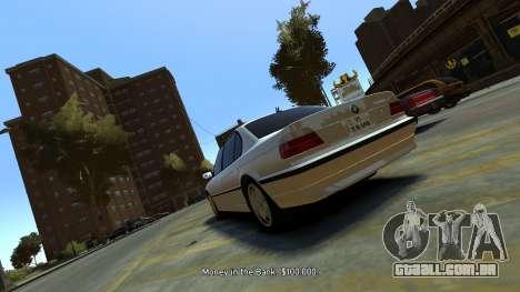 BMW 750iL para GTA 4 traseira esquerda vista