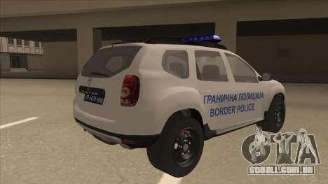 Dacia Duster Granična Policija foi para GTA San Andreas vista direita