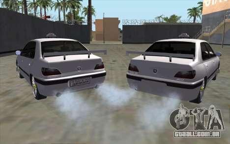 Peugeot 406 Taxi v2 para GTA San Andreas traseira esquerda vista